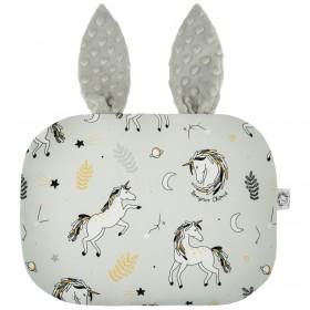 Poduszka Króliczek z uszami Jednorożce