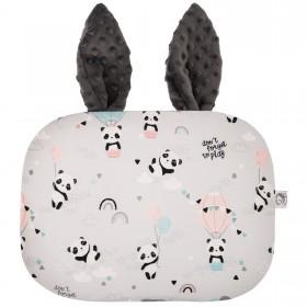 Poduszka Króliczek z uszami Panda w balonie