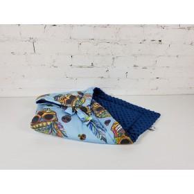 Rożek bawełniany z minky Witaj Wodzu (Niebieski)